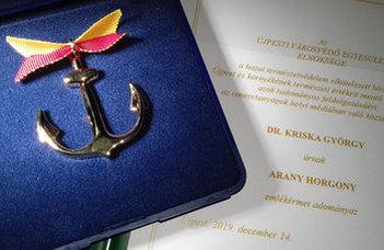 Elismerést kapott Kriska György